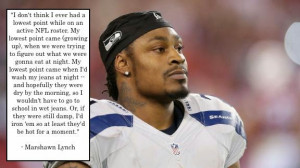 The Life and Personality Of Marshawn Lynch All Explained With A Quote
