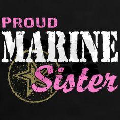 Proud Marine Sister Women's Fitted T-Shirt (dark) More