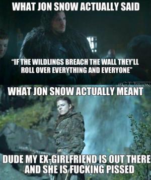 Jon Snow's thoughts