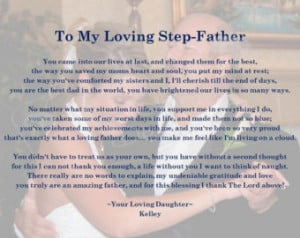 Step Fathers are amazing!!