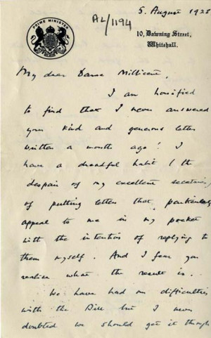 ... Millicent Garrett Fawcett following the passage of the Equal Franchise
