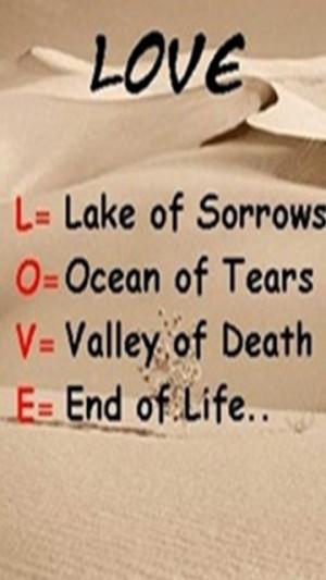 Lake of Sorrow   Sad Love Quote Wallpaper