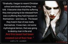 ... Marilyn Manson, atheism, anti-religion, religion, fear Manmad Fear