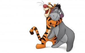 Tigger and Eeyore from Winnie the Pooh wallpaper - Click picture for ...