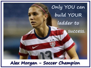 Soccer Poster Alex Morgan Olympic Champion Photo Quote Black Wall Art ...