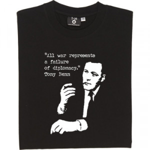 Tony Benn T-Shirt. A younger Mr Benn in classic pipe-smoking pose ...