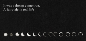 black and white, moon, quotes