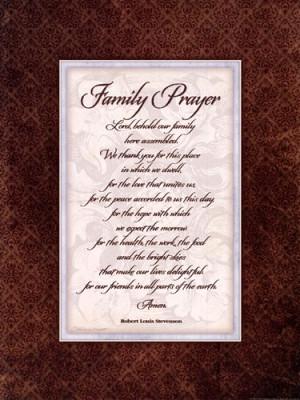 Family Prayer More Info