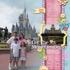 Disney Scrapbook Layout Ideas