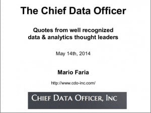The Chief Data Officer - quotes from data & analytics thought leaders