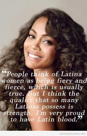 Zoe Saldana latina quotes
