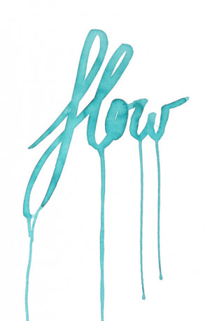 flow, quote, text, turquoise, typography