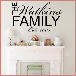 Personalised Family Wall Sticker ~ Wall sticker / decals