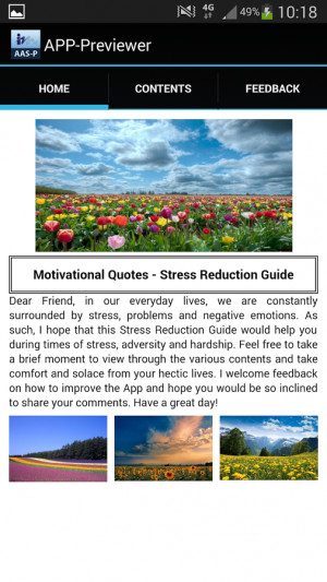 Motivational Quotes for Stress - screenshot