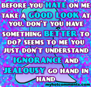 ignorance and jealousy Image