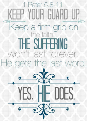 Peter 5:8-11 Printable