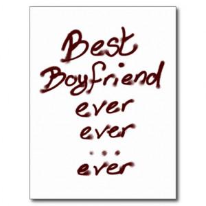 Best boyfriend ever post card