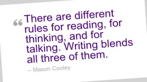 Writing Quote by Mason Cooley