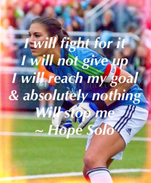 Hope Solo- A woman's soccer uniform was definitely part of Deana's ...