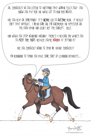 ... Lesson Horse: Yet Another Reason We're Lucky Horses Can't Talk