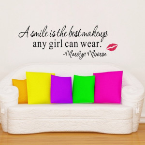 ... Monroe Wall famous Quotes Wall Sayings Removable Vinyl Wall baby decor