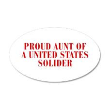 PROUD-AUNT-OF-US-SOLDIER-BOD-RED Wall Decal for