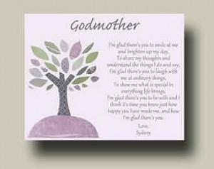 Godmother Gift from Godchild Godmother Keepsake Godmother