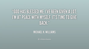 God Has Blessed Me Quotes