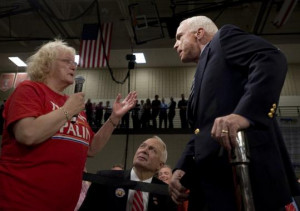john mccain and obama. Senator John McCain took a