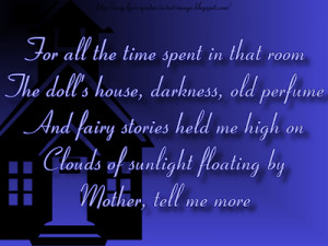 Matilda Mother - Pink Floyd Song Lyric Quote in Text Image