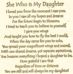 ... To My Daughter Quotes Happy Mothers Day Card Quotes And Sayings More