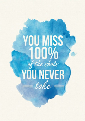 Image of Printable Quote (A4) 'Shots You Take'