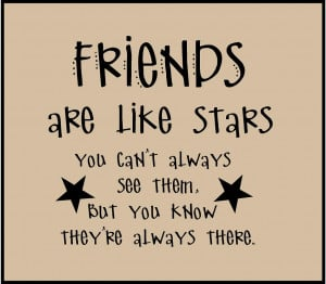 Friends Are Like Stars Wallpaper