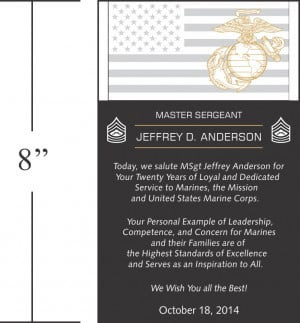 Retirement Sayings For Plaques Sample marine corps retirement