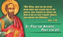 ... feast day of st paul is june 30 novena to st paul the apostle antiphon