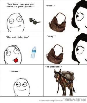 Funny photos funny woman purse donkey