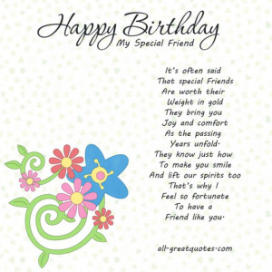 HAPPY BIRTHDAY IMAGES FOR A SPECIAL FRIEND BIRTHDAY