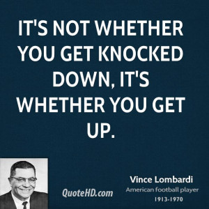 American coach, born june 11, 1913 search vince top. Quitters never ...