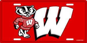 Wisconsin Badgers License Plate, Wisconsin Badgers License Tag