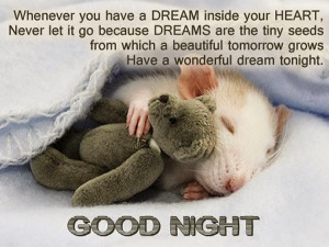 Cute good night quotes & messages for her/him