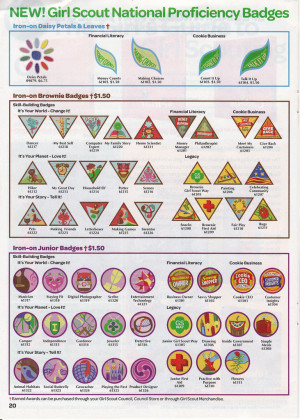 Girl Scout Badge Catalog Page