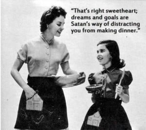 1950s, dinner, funny, old, satan, vintage, woman