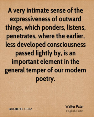 Walter Pater Poetry Quotes