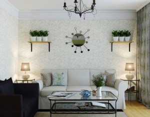Wall texture ideas for small living room