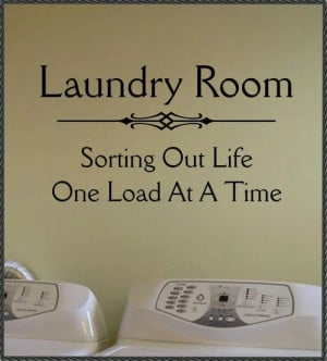 Vinyl Wall Quote Lettering Laundry Room Sorting by WallsThatTalk, $13 ...