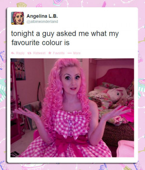 funny-picture-girl-Tweet-pink-hair-color