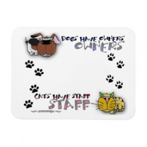 Dogs Have Owners Cats Staff
