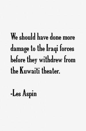 Les Aspin Quotes & Sayings