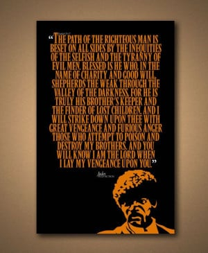 PULP FICTION - JULES Quote Poster