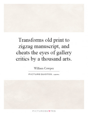 Transforms old print to zigzag manuscript, and cheats the eyes of ...